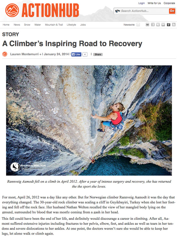 accident climbing recovery