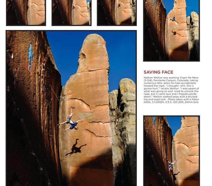 Fear of falling rock climbing