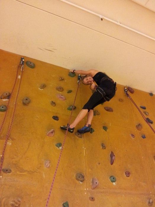 rannveig first time climbing after accident