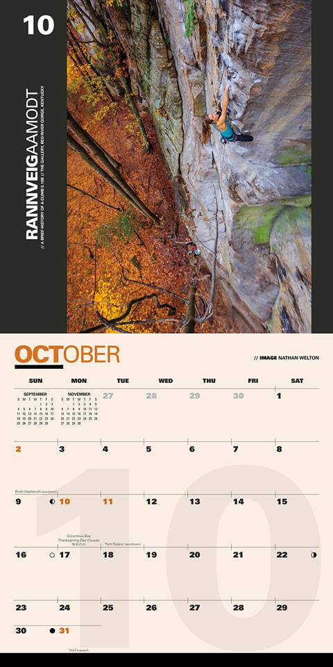 calendar of strong women climbers