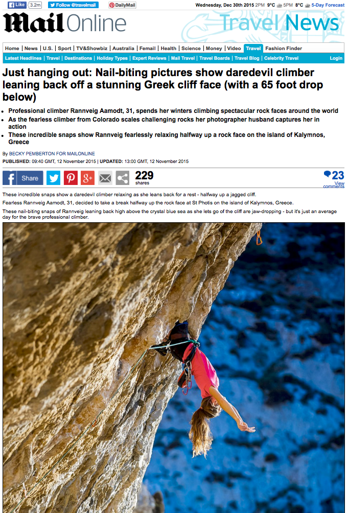 strong female climber rock climbing in Kalymnos