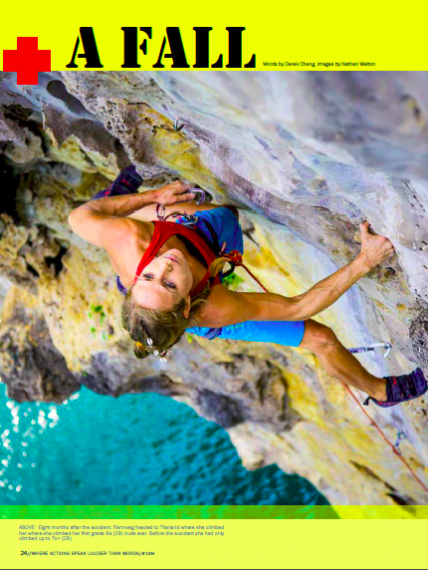 Rannveig Aamodt in Adventure Magazine New Zealand with Derek Cheng