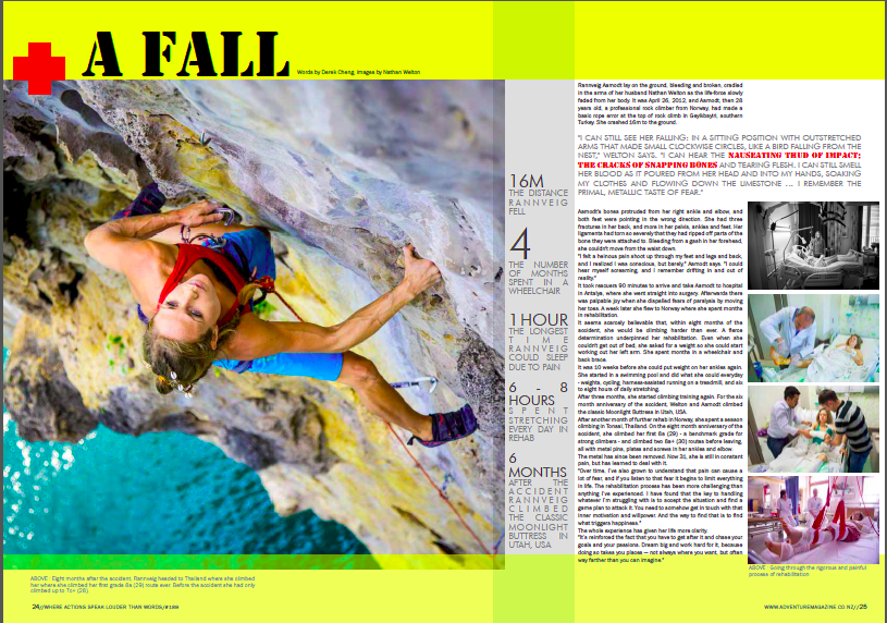 Rannveig Aamodt adventure magazine New Zealand with Derek Cheng