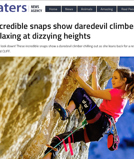 Caters News news Rannveig Aamodt climber